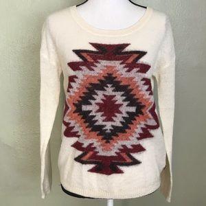 Madison Scotch Tribal Print Light Weight Sweater 4